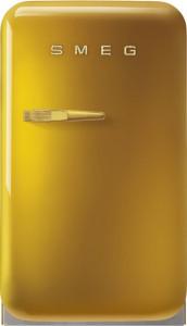 Frigider cu 1 ușă, retro, 50's Style, 73 cm, 34 l, aur, balamale în dreapta, Smeg FAB5RDGO5