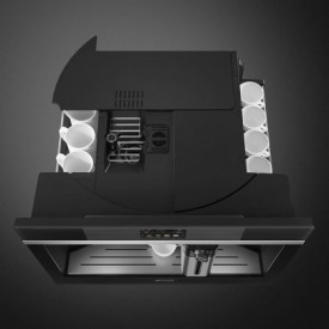 Expresor încorporabil compact, Linea, negru, 13 bauturi, Smeg CMS4104N