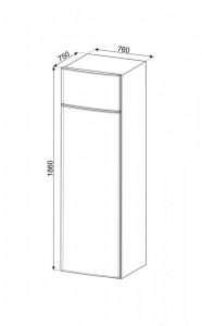 Frigider cu 2 uși, cu congelator, 186 cm, 400/124 l, Smeg FD76EN1HX