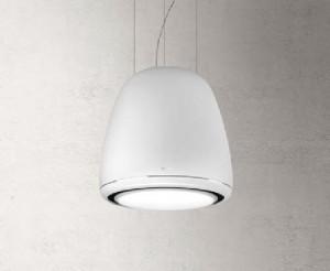 Hotă suspendată, 50 cm, decorativă, cu recirculare, albă, 380 mc/h, DESIGN FABRIZIO CRISÀ, Elica EDITH