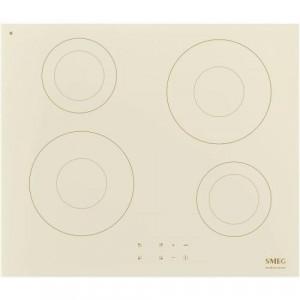 Plită inducție , 60 cm, 4 zone de gătit, finisaj crem - alamă, Smeg SI2641DP