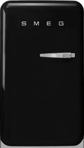 Frigider cu 1 ușă, cu congelator, retro, 50's Style, 97 cm, 105/17 l, negru, balamale în stânga, Smeg FAB10LBL5