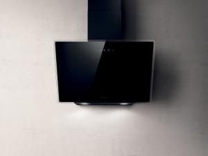Hotă încorporabilă decorativă, absorbție 713 mc/h, 1 motor, 90 cm, sticlă neagră, Elica Shire BL/90