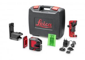Nivela laser verde cu linii in cruce si punct Leica LINO L2P5G