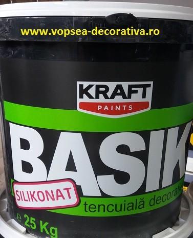 Tencuiala Decorativa Kraft.Tencuiala Decorativa Kraft Basik Cu Silicon