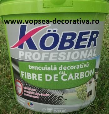 Kober tencuiala decorativa cu fibra de carbon