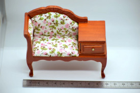 Settee with drawer