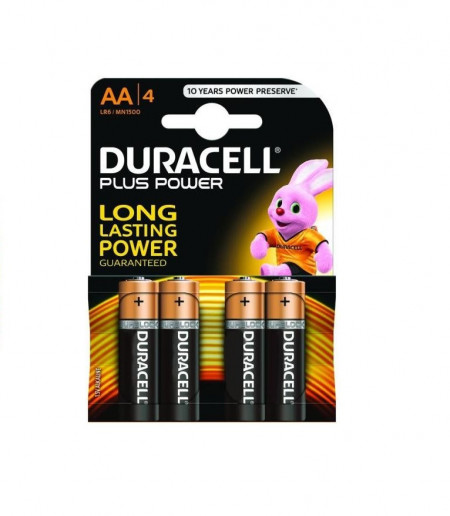 Baterii Alkaline Duracell AA LR6/MN1500 long power 4 buc/set
