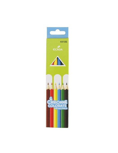 Creion color 6 culori Ecada