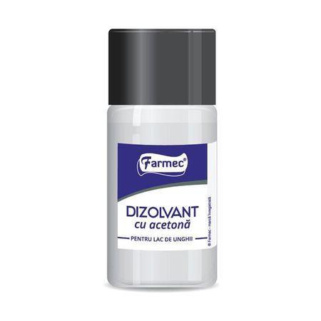 Dizolvant cu acetona pentru lac de unghii Farmec 50 ml
