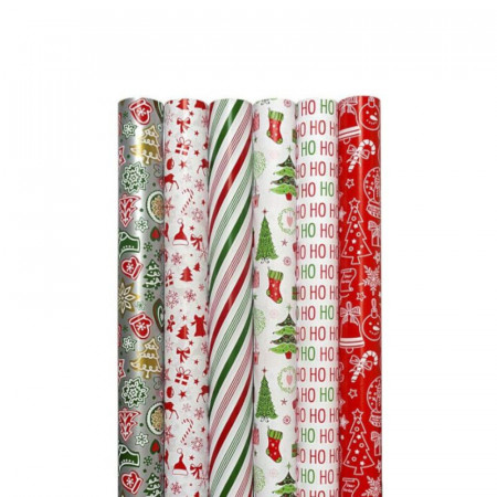 Hartie ambalaj 70 x 200 cm, 80g/mp, Jolly Christmas Rotolux