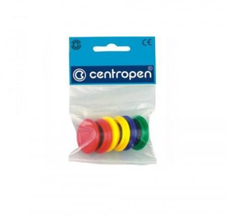 Magneti Centropen pentru tabla magnetica, D30 mm, 6 buc/set