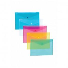 Mapa plastic cu buton, Noki A4, culori Transparente