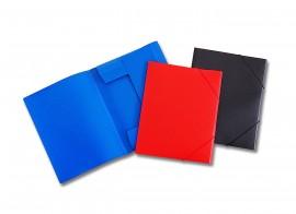 Mapa plastic NOKI cu elastic, cotor 1.5 cm, diverse culori