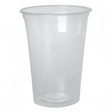 Pahare plastic Transparent PET Safir 400 ml, 50 buc/set