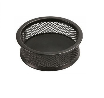 Suport metalic Mesh, pentru agrafe, rotund - D90mm, H32mm, Q-Connect - negru