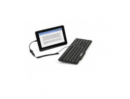 Tastatura OMEGA Slim 0K-05, USB/microUSB, Negru