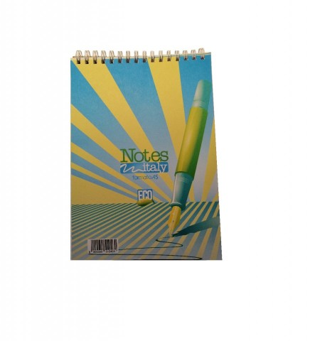 Bloc Notes A5 cu spira metalica, 50 file - dictando/matematica