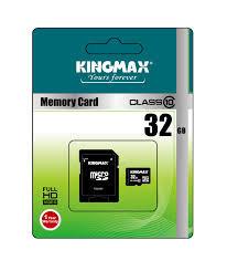 Card de memorie Kingmax MicroSDHC, 32GB, Class 10 + Adaptor SD