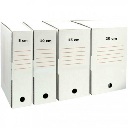 Cutie de arhivare, carton alb, 345 x 245 x 100 mm, B4U