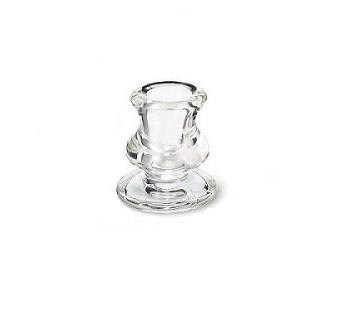 Suport din sticlă pentru lumânări conice și cilindrice 62×57 mm