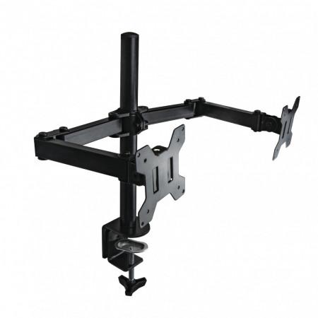 Suport Gembird de birou dual pentru 2 monitoare LCD 13''- 27'' VESA, max 14 kg