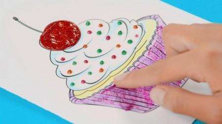 Adeziv lichid cu sclipici Maped Color Peps 9 culori/set