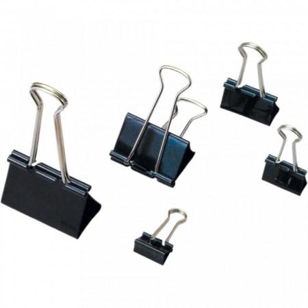 Clip hartie 32mm metalic, 12buc/cutie, ARTIGLIO - negru