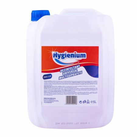 Dezinfectat universal multisuprafete Hygienium 5 L, avizat de M.S