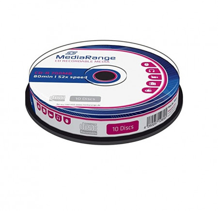 MediaRange CD-R 52X, 700Mb, 80 min, 10 buc/set