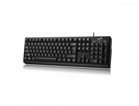Tastatura Genius KB-100, cu fir, USB, Negru