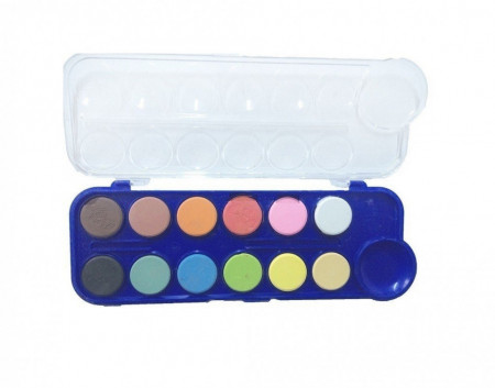 Acuarele 12 culori - PASTILA & ULEI -SCHOOL OFFICE