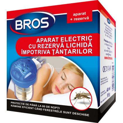 Aparat electric BROS cu lichid impotriva tantarilor + rezerva lichid (40 ml)