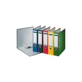 Biblioraft A4, plastifiat PP/paper, margine metalica 5cm /8cm LEITZ 180 - diferite culori