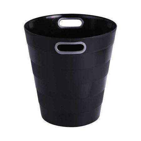 Cos de birou din plastic ARK cu maner 12,5l, negru