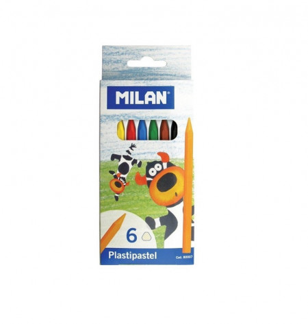 Creioane colorate cerate Milan, 6 buc/set