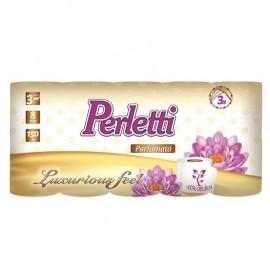Hartie igienica parfumata Perletti 8 role 3 straturi