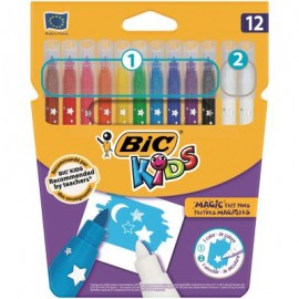 Markere colorate lavabile Colour&Erase 12 buc/set