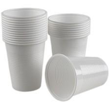 Pahare plastic Albe Safir 200 ml, 100 buc/set