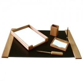 Set birou 5 piese, lemn stejar