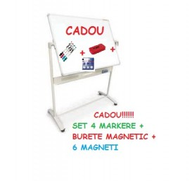 WHITEBOARD MOBIL MAGNETIC 100*150 CM BASIC MEMOBOARDS + CADOU!!!