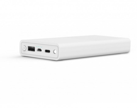 Acumulator extern Serioux, 20000 mAh Quick Charge 3.0, USB Type C, Alb