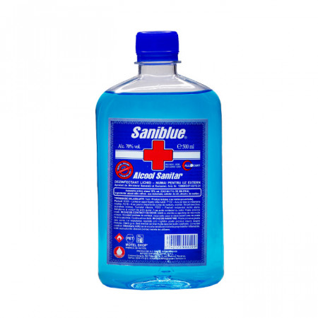Alcool sanitar Saniblue 70% ,500 ml