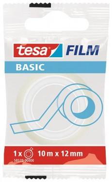 Banda birou Tesa Basic transparenta 10m x12mm