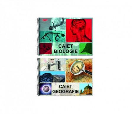 Caiet Geografie sau Biologie A4, 24 file, cu spira Daco