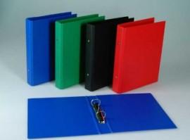 Caiet mecanic 2 inele - D25mm, coperti carton plastifiat PVC, A5, AURORA - negru