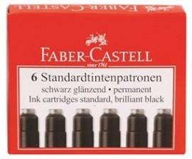 Cartuse Cerneala Mici 6 Buc/Cutie Faber-Castell Negru/Albastru