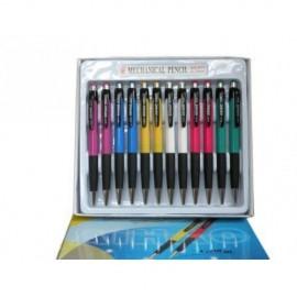 Creion mecanic 0.5mm, varf retractabil, grip, accesorii metalice Aihao 911