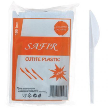 Cutite plastic Safir 100 buc/set