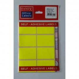 Etichete autoadezive color, 34 x 52 mm, 80 buc/set, Tanex -fluorescent